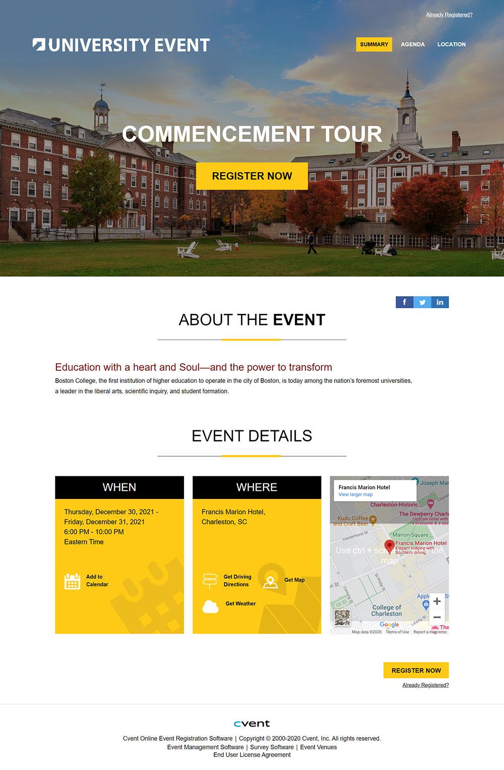 Cvent | Visual Showcase for Event Management