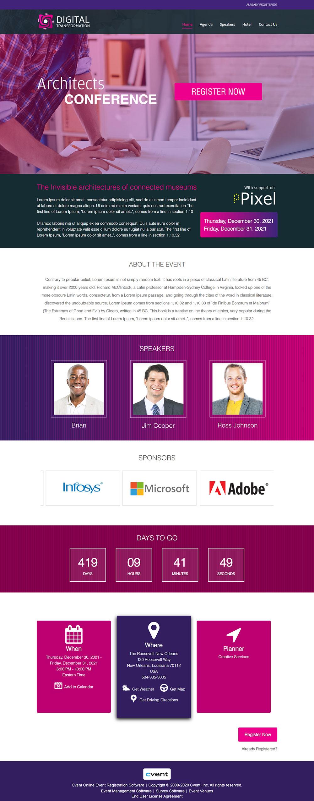 Cvent   Visual Showcase for Event Management